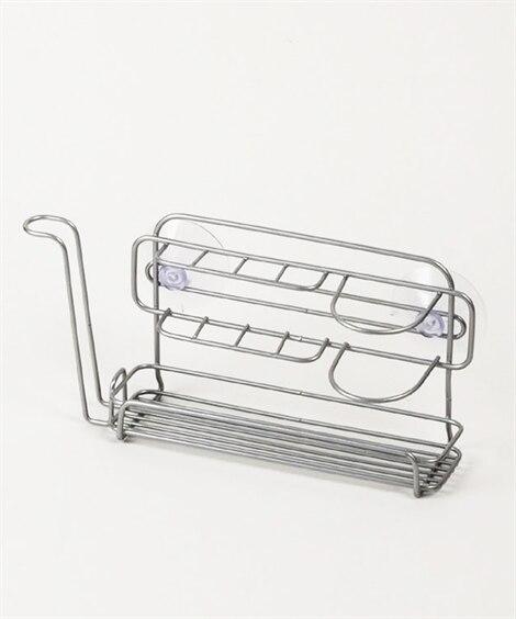 バススタイル 吸盤タイプダブルコーティングハブラシホルダー ...
