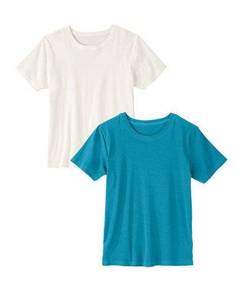 抗菌防臭加工フライス半袖Tシャツ2枚組 Tシャツ・カットソー, T-shirts,