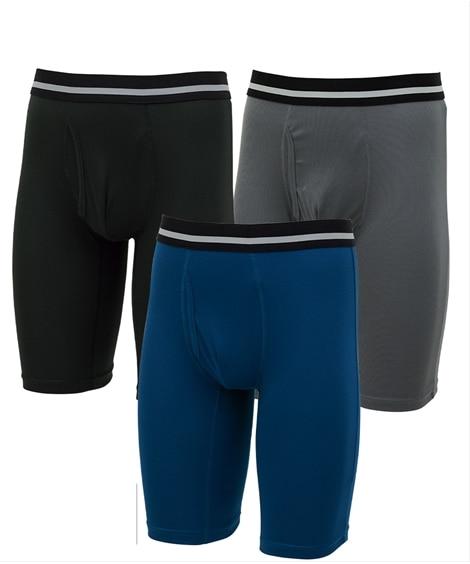 吸汗速乾ハニカムメッシュロングボクサーパンツ3枚組 ボクサーパンツ, trunks, boxerbriefs