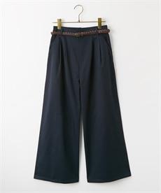 <ニッセン>共布リボンベルト付テーパードパンツ (レディースパンツ)pants 21
