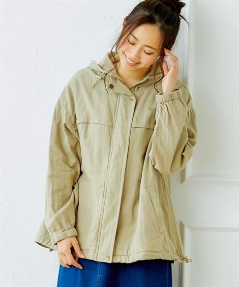 【20春夏】綿ダブルガーゼ素材 柔らかマウンテンパーカー。シ...
