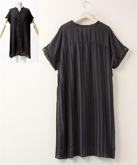 【大きいサイズ】 バックプリーツガウンワンピース 透け素材【Blistorm】 ワンピース, plus size dress