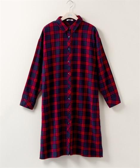 大きいサイズ ドロップショルダーシャツワンピース【Blistorm】 ,スマイルランド, ワンピース, plus size dress