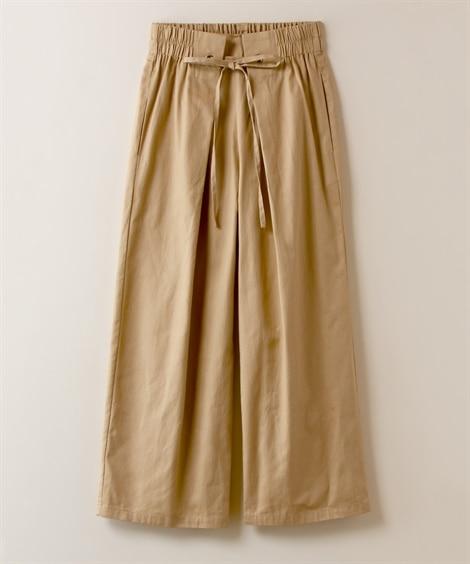 【大きいサイズ】 フロントリボンストレートパンツ パンツ, ...