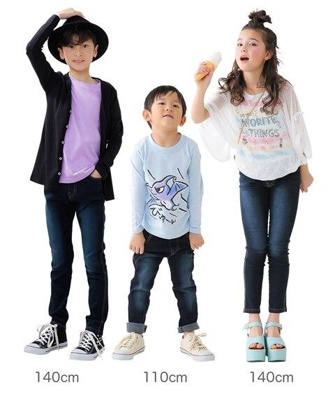 48595ed6592f3 ...  もっとゆったりサイズ すごく伸びるデニムスキニーパンツ(男の子・女の子 子供服 ...
