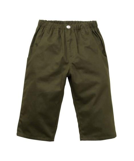 【子供服】 【もっとゆったりサイズ】男の子6分丈ツイルパンツ...