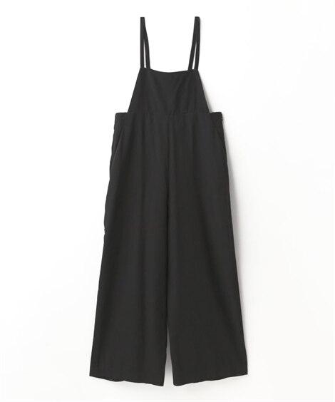 後ろリボン結びサロペット (レディースパンツ),pants