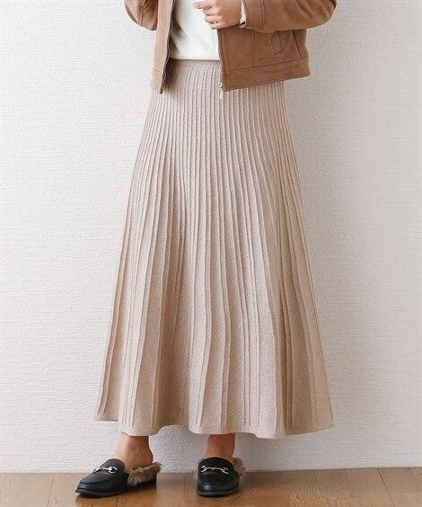ラメニットロングスカート (ロング丈・マキシ丈スカート)Sk...