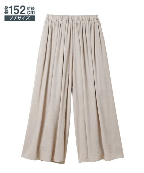 小さいサイズ ボリューム楊柳ワイドパンツ 【小さいサイズ・小柄・プチ】パンツ, Pants