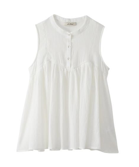 小さいサイズ ハシゴレースノースリーブブラウス 【小さいサイズ・小柄・プチ】Tシャツ・カットソー, T-shirts,