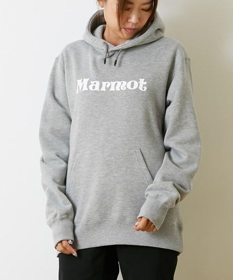 Marmot スウェットロゴパーカー(男女兼用) 【レディーススポーツウェア】Sportswear