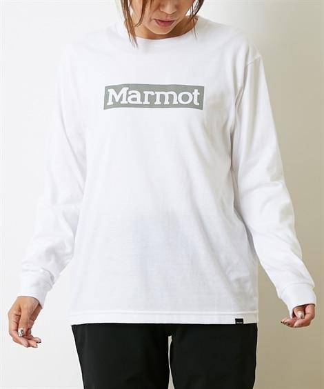 Marmot スクエアロゴロングスリーブクルー(男女兼用) 【レディーススポーツウェア】Sportswear