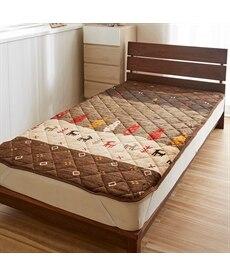 あったか起毛フランネルの敷パッド(トナカイ柄) 敷きパッド・ベッドパッドの商品画像