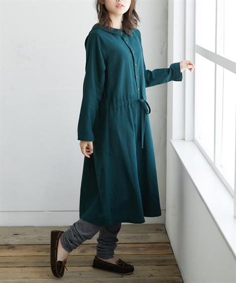 前後2WAY衿付ワンピース (ワンピース),dress