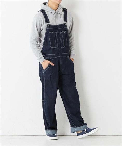 ゆるっと着られるオーバーオール パンツ, Pants