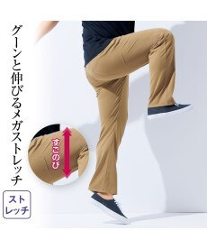 <ニッセン>【紳士服】 股ずれしにくいメガストレッチ5ポケットニットチノパンツ(内股当て布付)(股下80cm) メンズチノパンツ・カジュアルパンツ画像