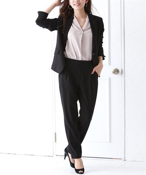 洗えるタテヨコストレッチパンツスーツ(テーラードジャケット+...