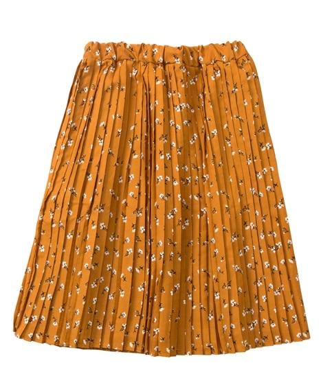 【子供服】 フラワー柄ひざ丈プリーツスカート(女の子 子供服...