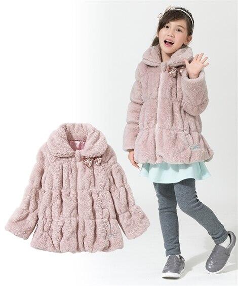 シャーリングボアコート(女の子 子供服。ジュニア服) ジャン...