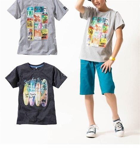 【子供服】 転写プリント半袖Tシャツ2枚組(男の子。女の子 ...
