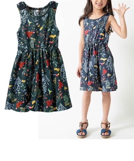 肩リボンが可愛い♪サンドレス(女の子 子供服。ジュニア服) ...