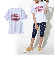 <ニッセン> 上下セット(肩フリルブラウス+フリルパンツ)(女の子 子供服。ジュニア服) シャツ・ブラウス 16