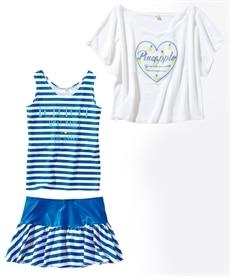 <ニッセン> 上下セット(肩フリルブラウス+フリルパンツ)(女の子 子供服。ジュニア服) シャツ・ブラウス 25