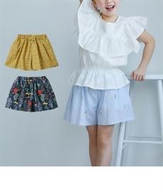 2d76405a876e7 スカート見えが可愛い♪布帛総柄キュロット(女の子 子供服・ジュニア服