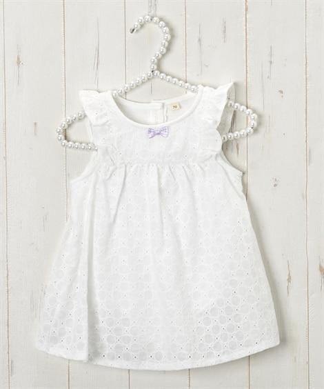 インナーロンパース付きワンピース(女の子 子供服。ベビー服) 【ベビー服】