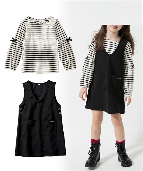 2点セット(Tシャツ+ジャンパースカート)(女の子 子供服。...