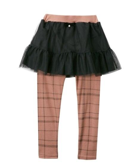 チュールスカッツ(女の子 子供服。ジュニア服) (スカート付...