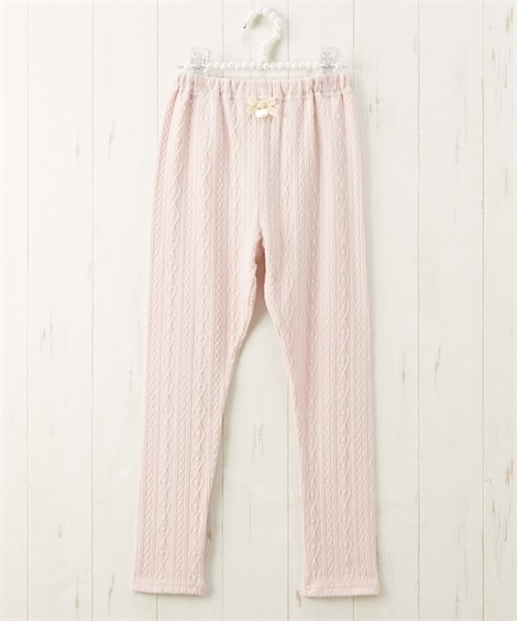 アラン編み10分丈レギンス(女の子 子供服。ジュニア服) レ...