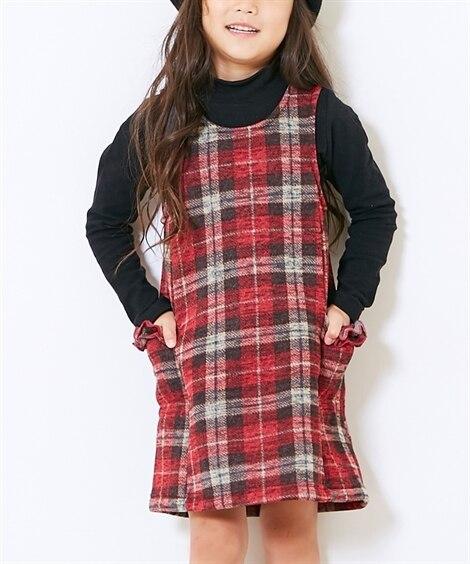 ニットフリースジャンパースカート(女の子 子供服) (オール...