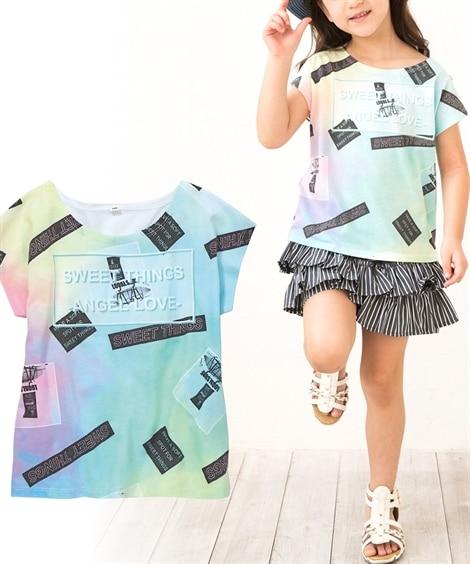 女の子全面転写Tシャツ (Tシャツ・カットソー)Kids' ...