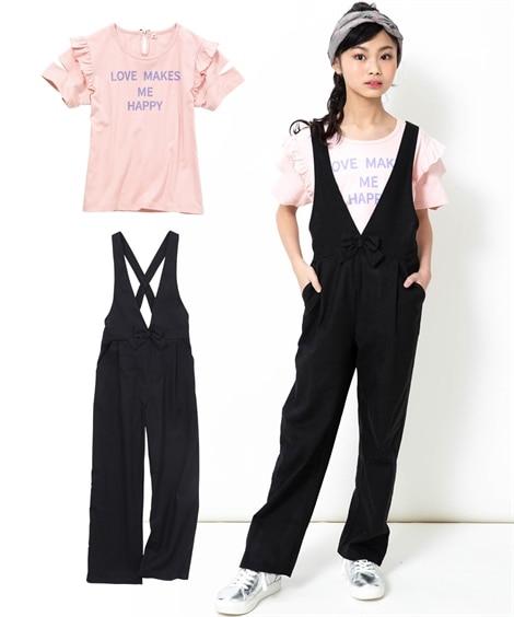 2点セット(Tシャツ+オールインワン)(女の子 子供服。ジュ...