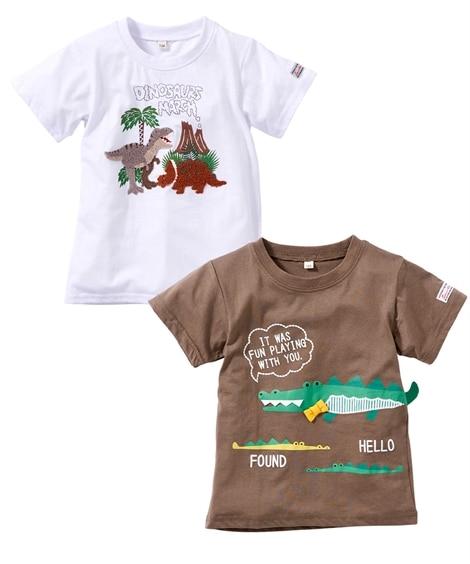 立体しっぽTシャツ+サガラTシャツセット(子供服 男の子) ...