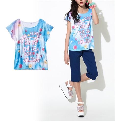 転写プリントTシャツ(女の子 子供服。ジュニア服) Tシャツ...