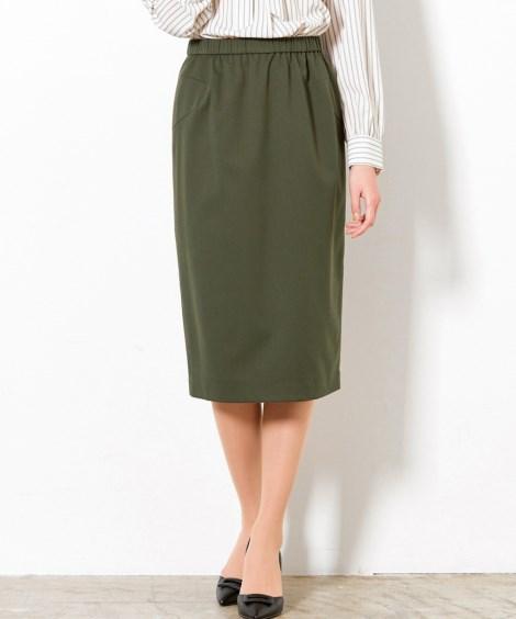 【大きいサイズ】 すっきり見せのこだわりタイトスカート スカ...
