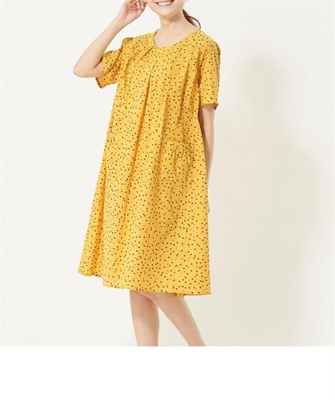 大きいサイズ 綿100%ワンピース ,スマイルランド, ワンピース, plus size dress