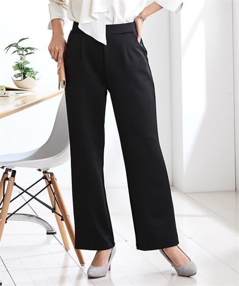 ダンボールニット ストレッチストレートパンツ (レディースパンツ)Pants