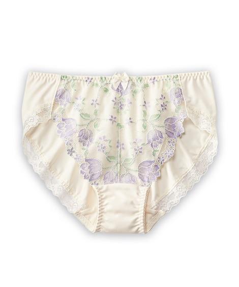 やや深ばき丈ペアショーツ(チューリップ柄)(トリンプ)(L) スタンダードショーツ, Panties