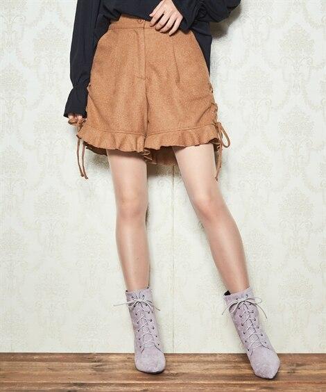 ミューズミューズ 裾フレアーショートパンツ (大きいサイズレ...