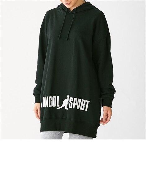 ビッグシルエットパーカーチュニック(KANGOL SPORT) (大きいサイズレディース)plus size hoodies, 派克大衣