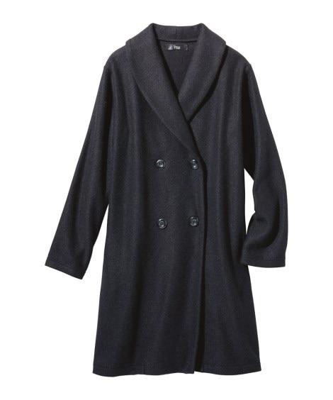 軽くて暖かい起毛カットソーコート (大きいサイズレディース)...