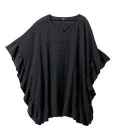 <ニッセン> レーヨン混プリントチュニックTシャツ (大きいサイズレディース)Tシャツ・カットソー 4