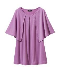<ニッセン> レーヨン混プリントチュニックTシャツ (大きいサイズレディース)Tシャツ・カットソー 15