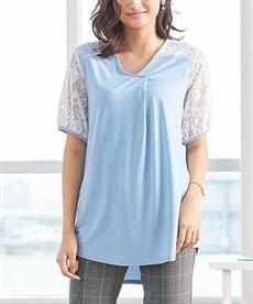 <ニッセン> レーヨン混プリントチュニックTシャツ (大きいサイズレディース)Tシャツ・カットソー 17