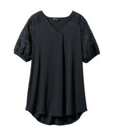<ニッセン> レーヨン混プリントチュニックTシャツ (大きいサイズレディース)Tシャツ・カットソー 19