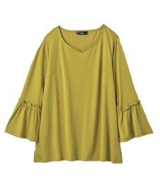 <ニッセン> レーヨン混プリントチュニックTシャツ (大きいサイズレディース)Tシャツ・カットソー 22