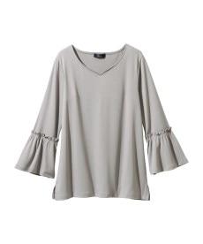<ニッセン> レーヨン混プリントチュニックTシャツ (大きいサイズレディース)Tシャツ・カットソー 21